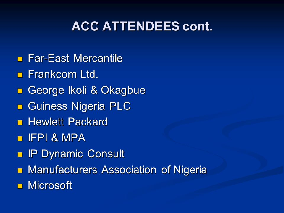 ACC ATTENDEES cont.