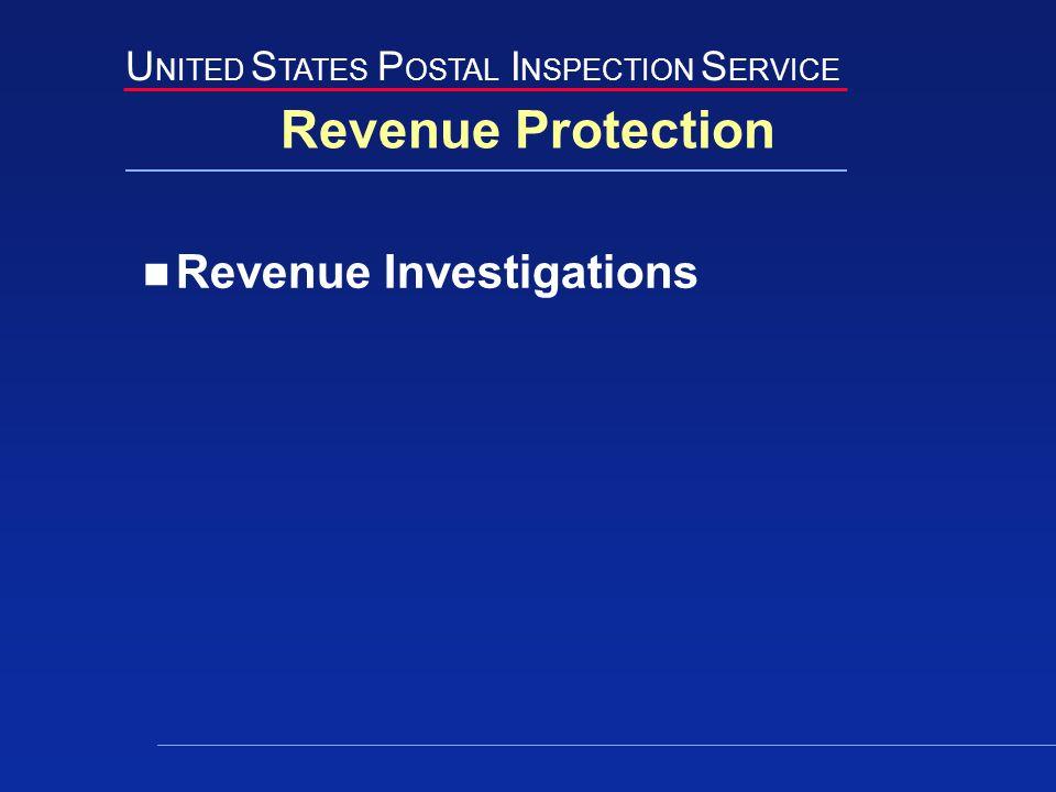 U NITED S TATES P OSTAL I NSPECTION S ERVICE Revenue Protection Revenue Investigations