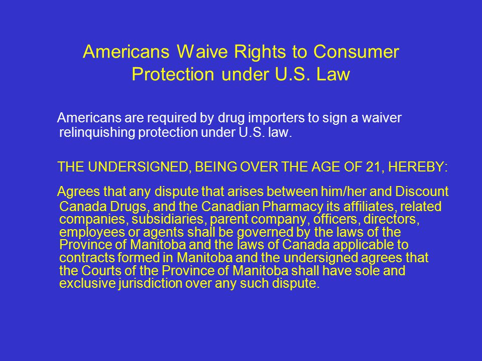 Americans Waive Rights to Consumer Protection under U.S.