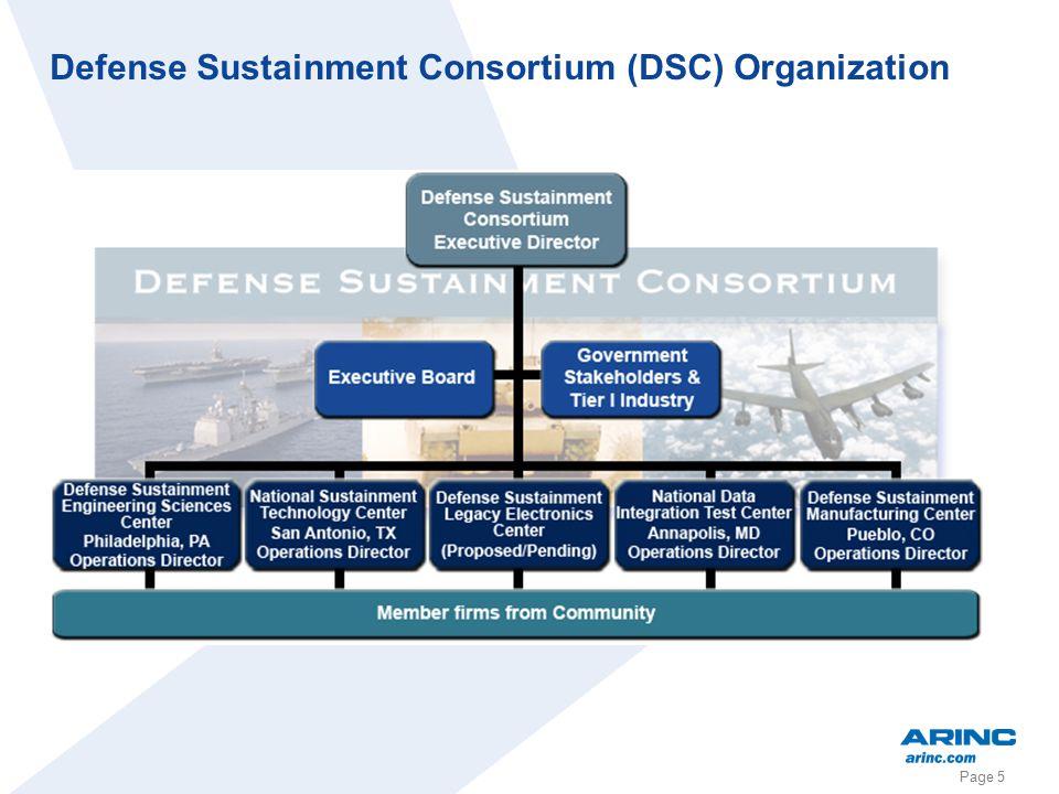 Page 5 Defense Sustainment Consortium (DSC) Organization