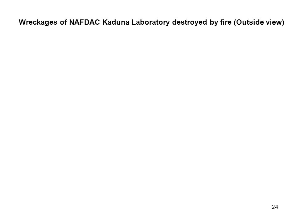 23 Wreckages of NAFDAC Operational Headquarters Lagos destroyed by fire (Inside view).