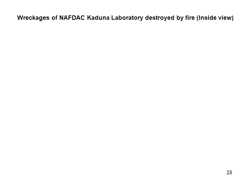24 Wreckages of NAFDAC Kaduna Laboratory destroyed by fire (Outside view)
