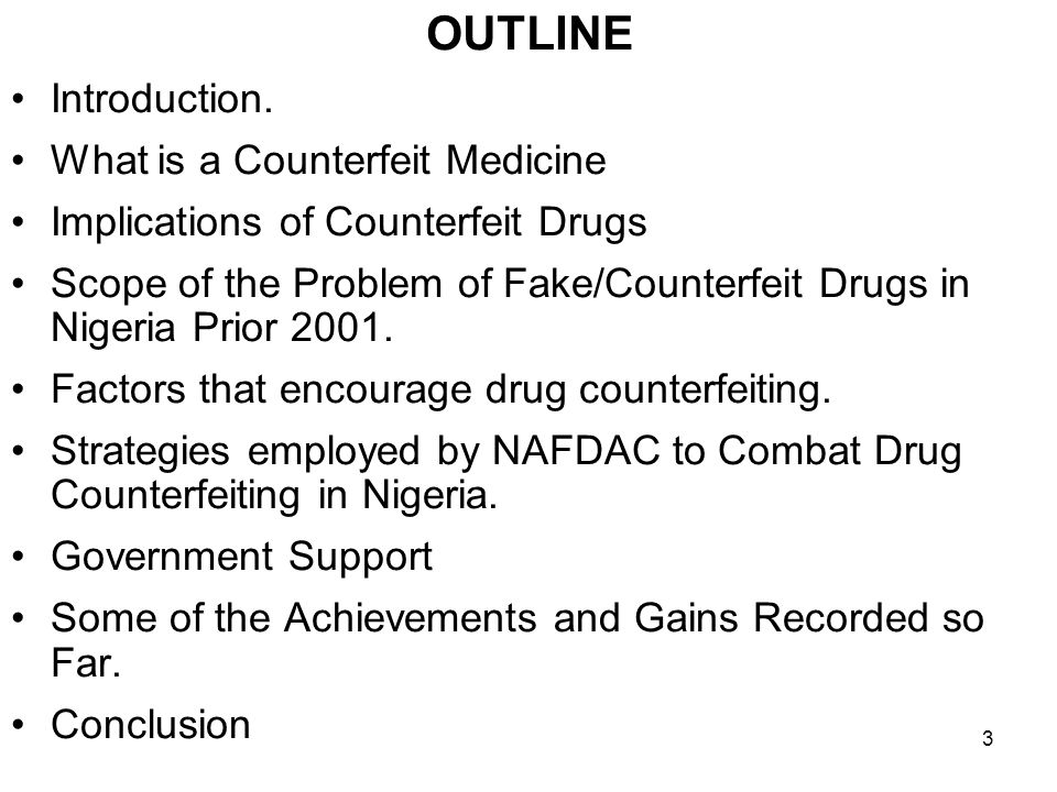 ANTICOUNTERFEITING ACTIVITES: THE CASE OF NIGERIA PROF.