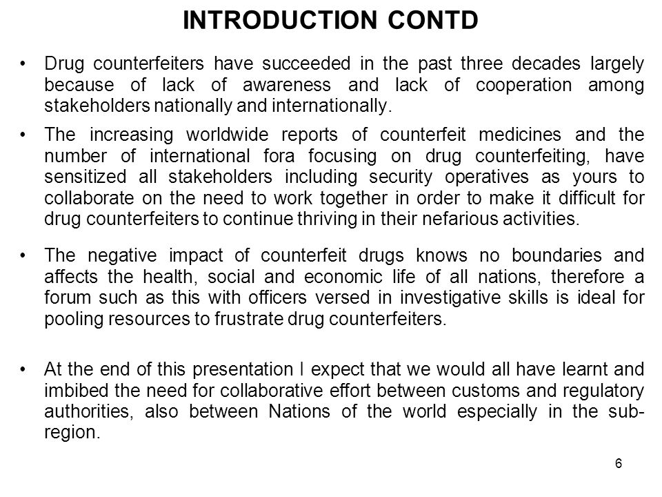 26  DISCRIMINATORY REGULATION BY EXPORTING COUNTRIES Some countries have strong regulations for drugs consumed internally and little or no regulation for drugs meant for export.