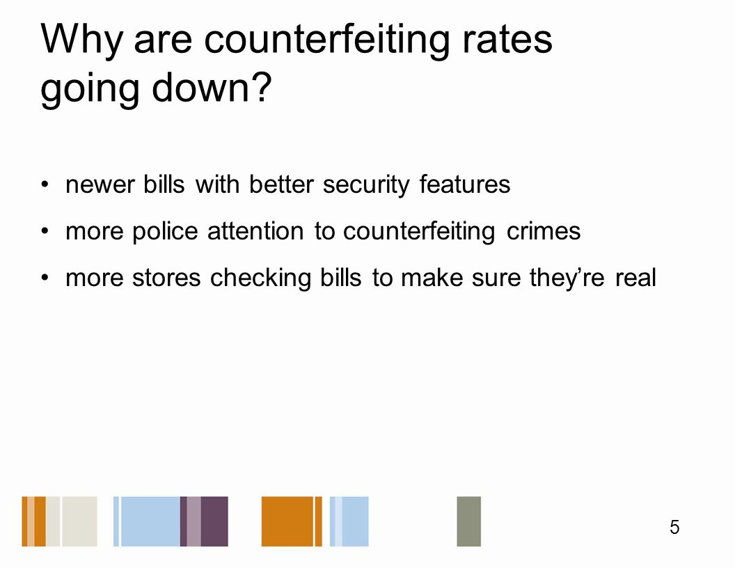 Why are counterfeiting rates going down.