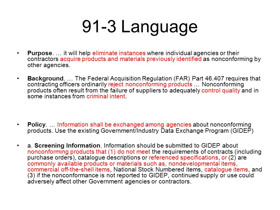 91-3 Language Purpose.