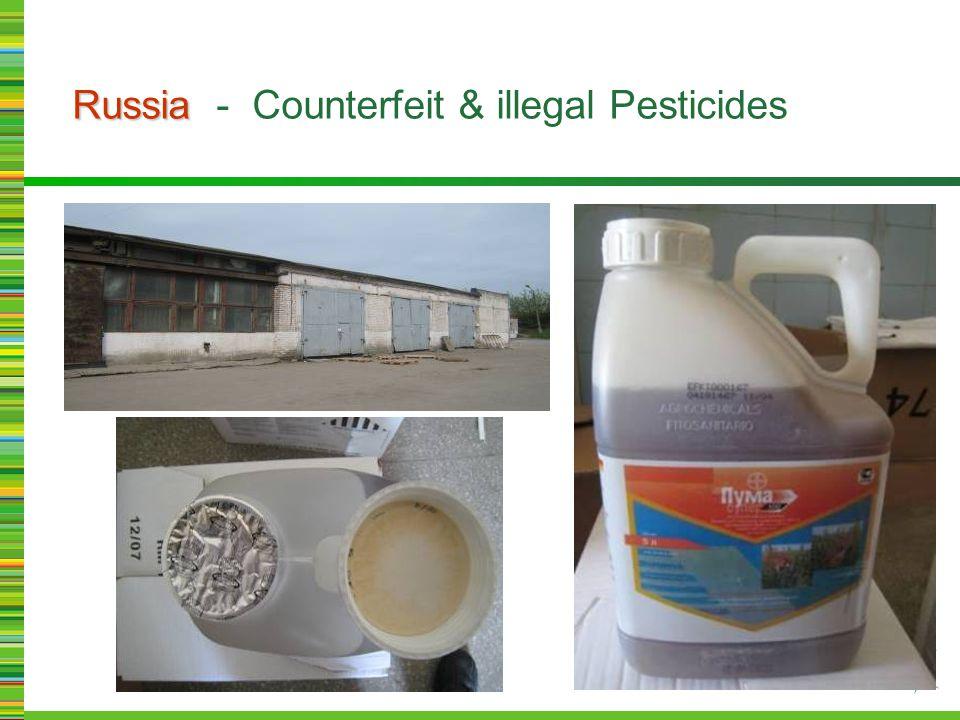 Russia Russia - Counterfeit & illegal Pesticides