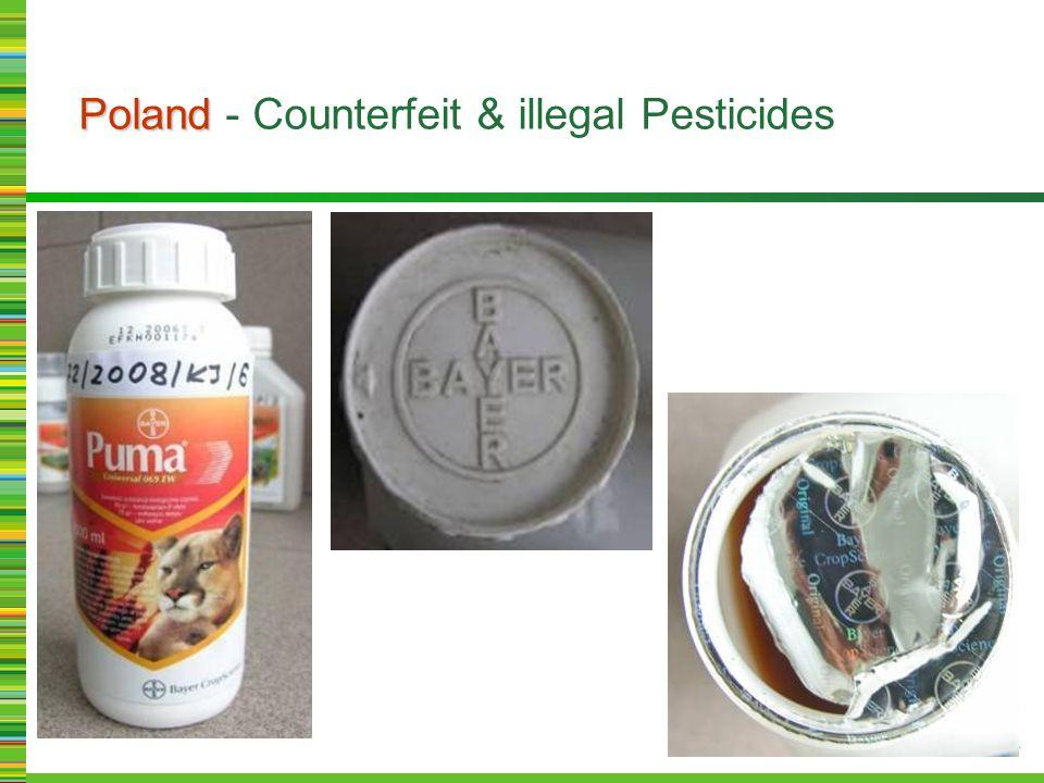 Poland Poland - Counterfeit & illegal Pesticides