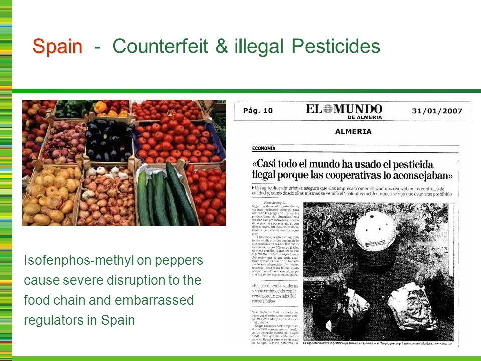 Spain Spain - Counterfeit & illegal Pesticides