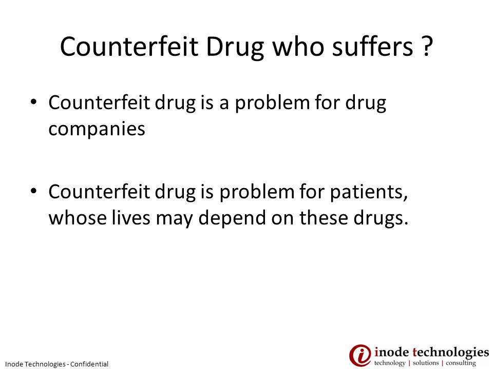 Counterfeit Drug who suffers .