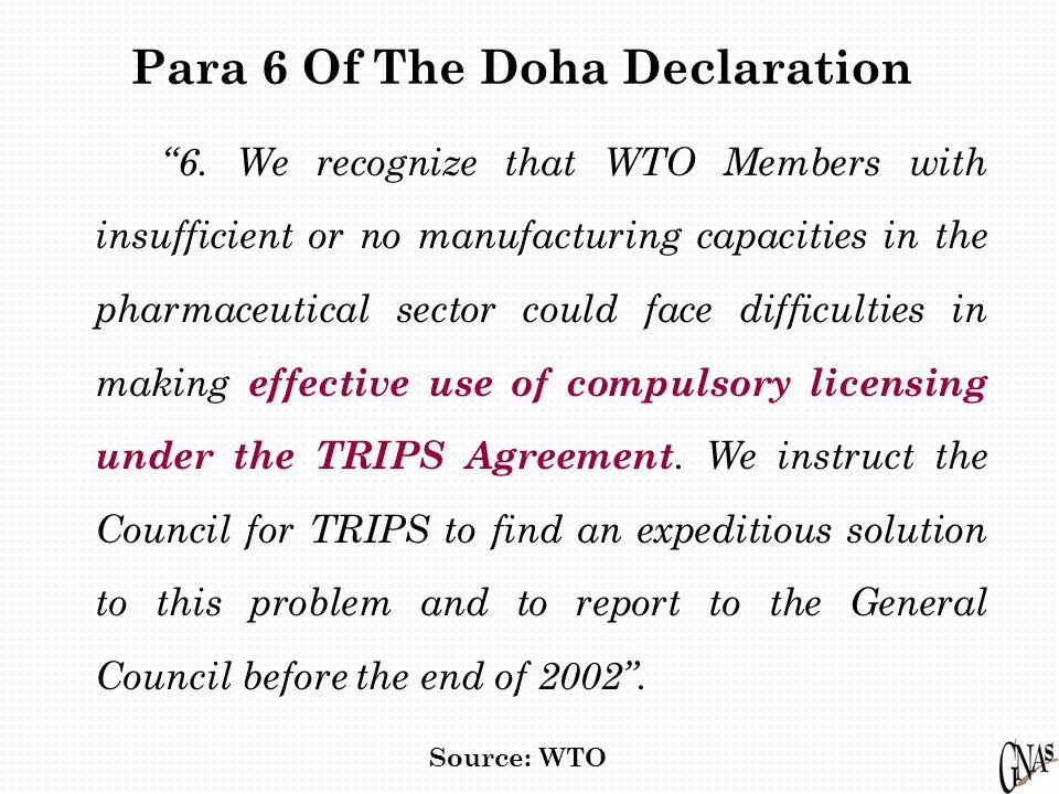 Para 6 Of The Doha Declaration 6.