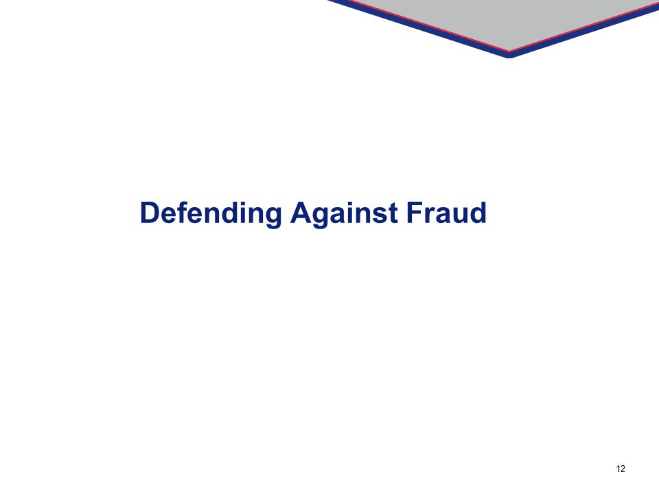 12 Defending Against Fraud