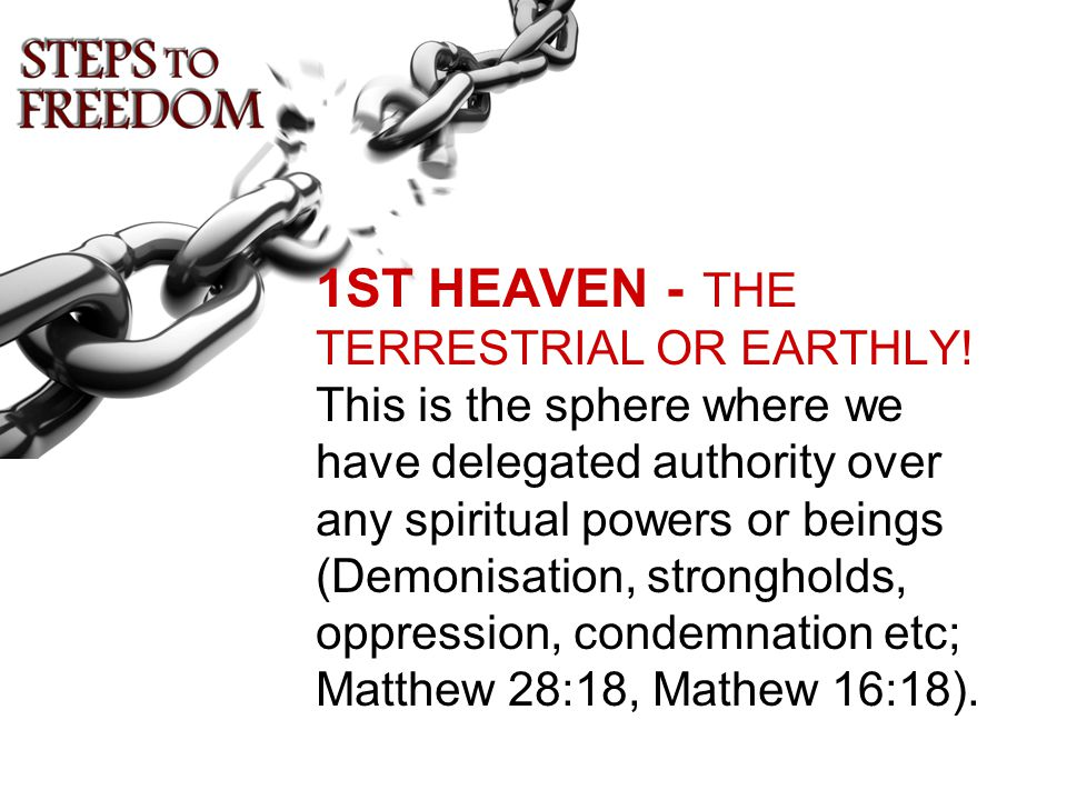 1ST HEAVEN - THE TERRESTRIAL OR EARTHLY.