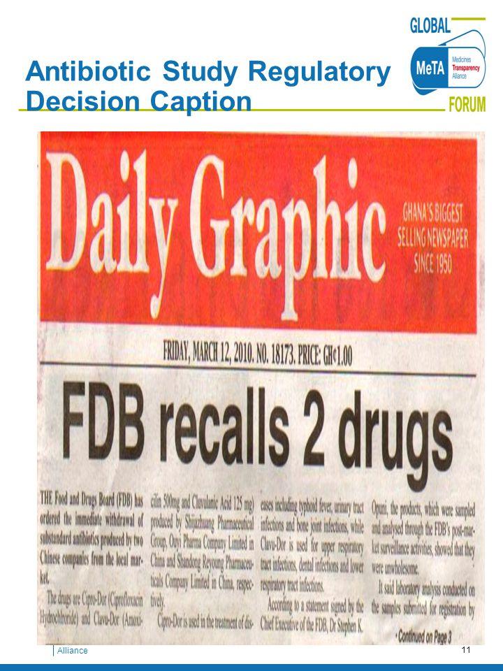 Medicines Transparency Alliance Antibiotic Study Regulatory Decision Caption 11