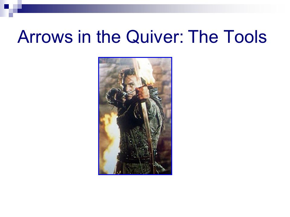 Arrows in the Quiver: The Tools