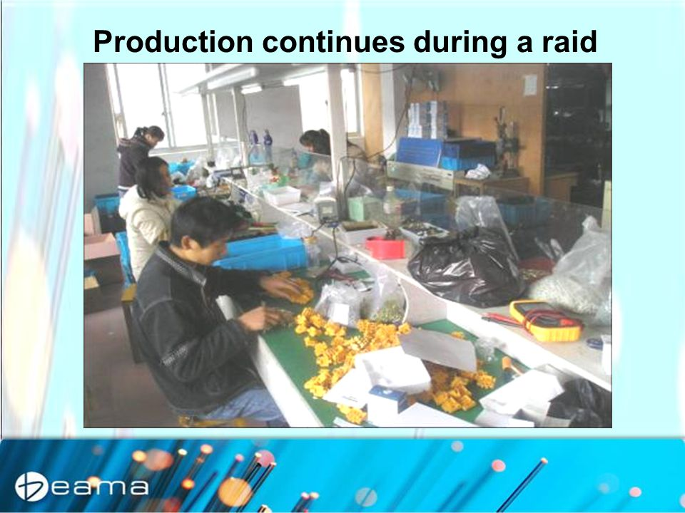 Production continues during a raid