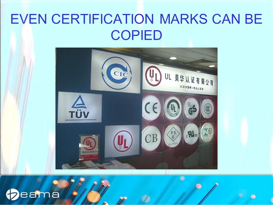 EVEN CERTIFICATION MARKS CAN BE COPIED