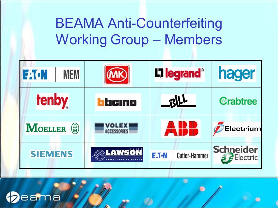 BEAMA Anti-Counterfeiting Working Group – Members