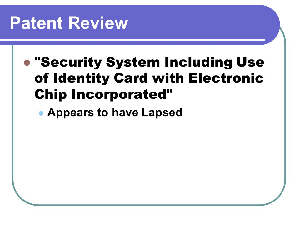 Patent Review Passport Counterfeit Detection System Passport with Chip; identity and nationality details; Printed Photo; Display Photo once read.