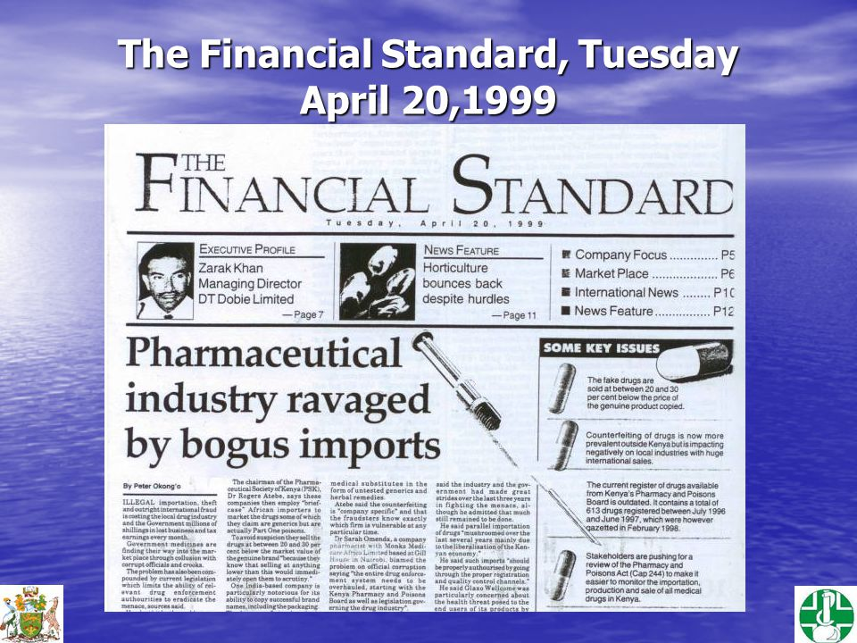 The Financial Standard, Tuesday April 20,1999