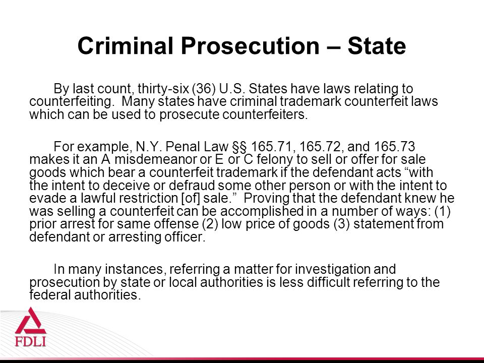 Criminal Prosecution – State By last count, thirty-six (36) U.S.