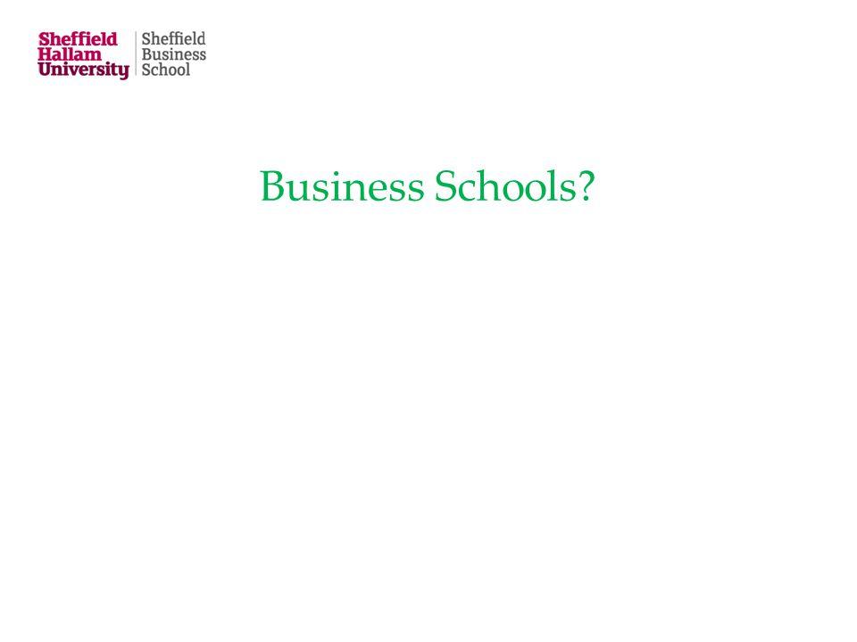 Business Schools?