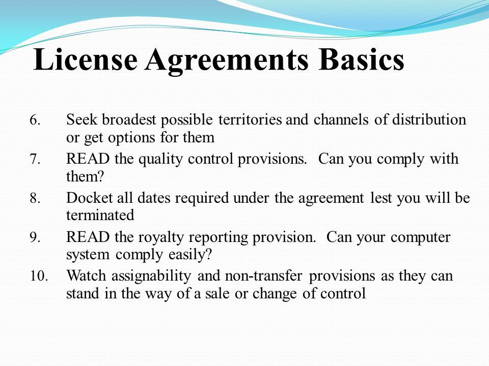 License Agreements Basics 6.