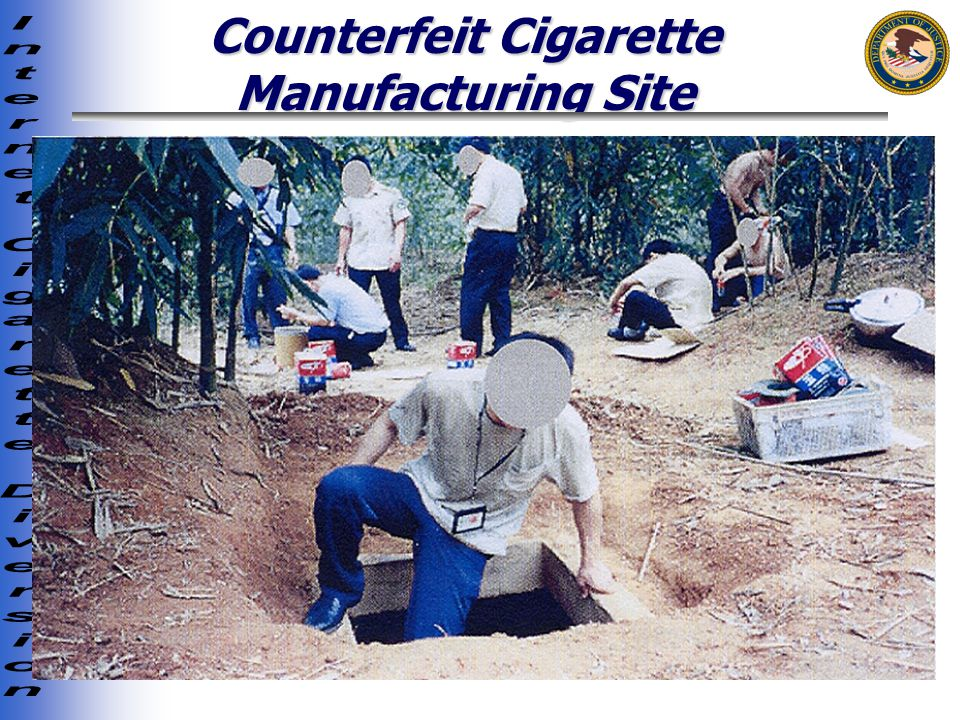 Counterfeit Cigarette Manufacturing Site