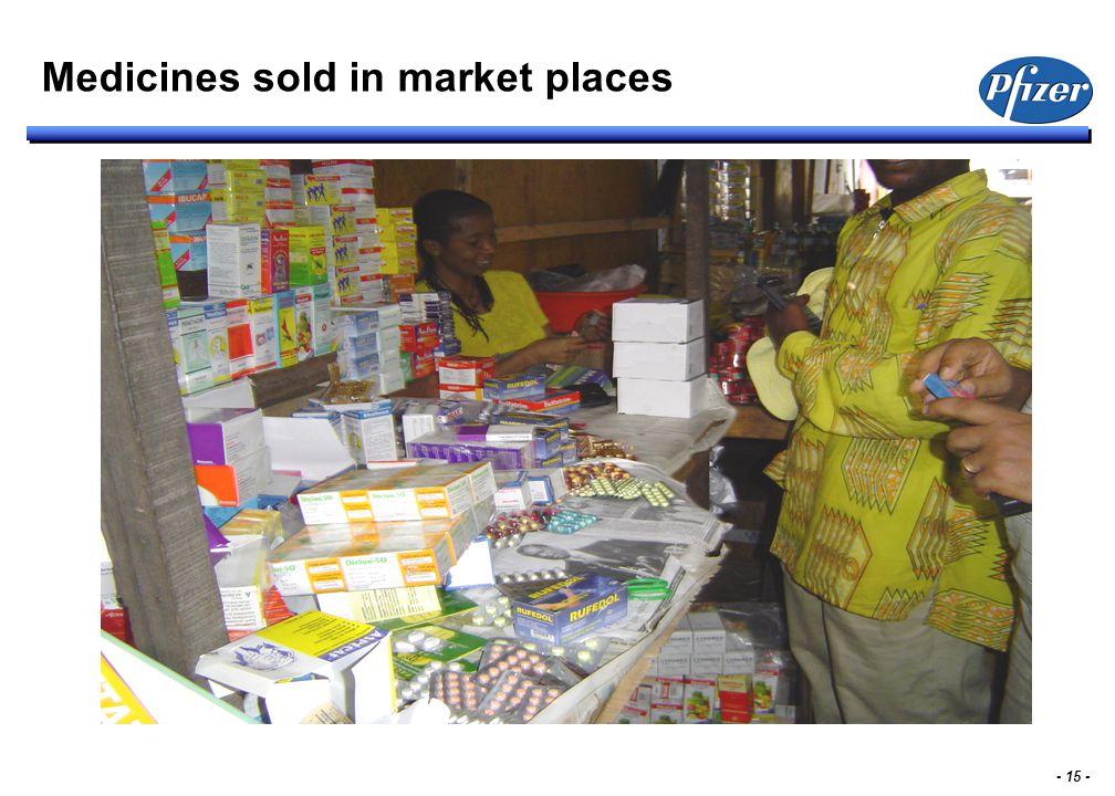 - 15 - Medicines sold in market places