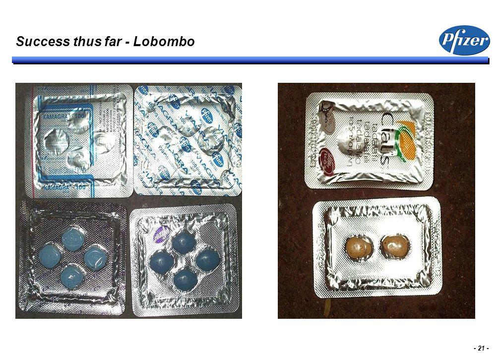 - 21 - Success thus far - Lobombo