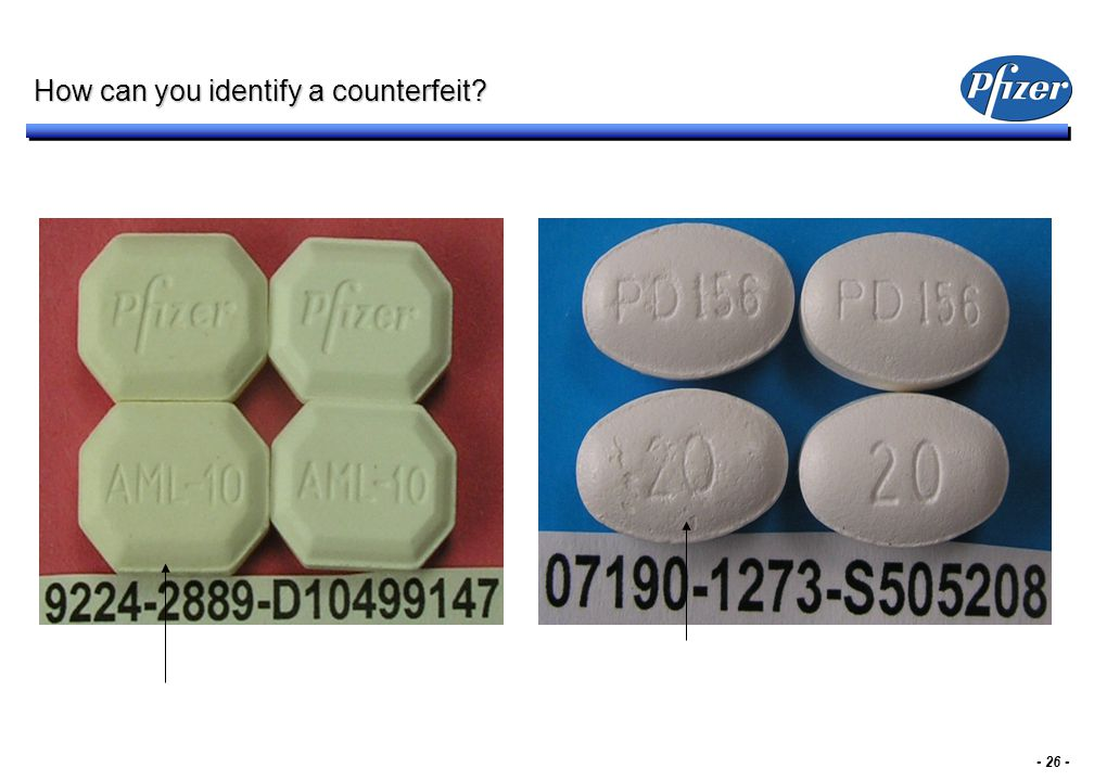 - 26 - How can you identify a counterfeit?