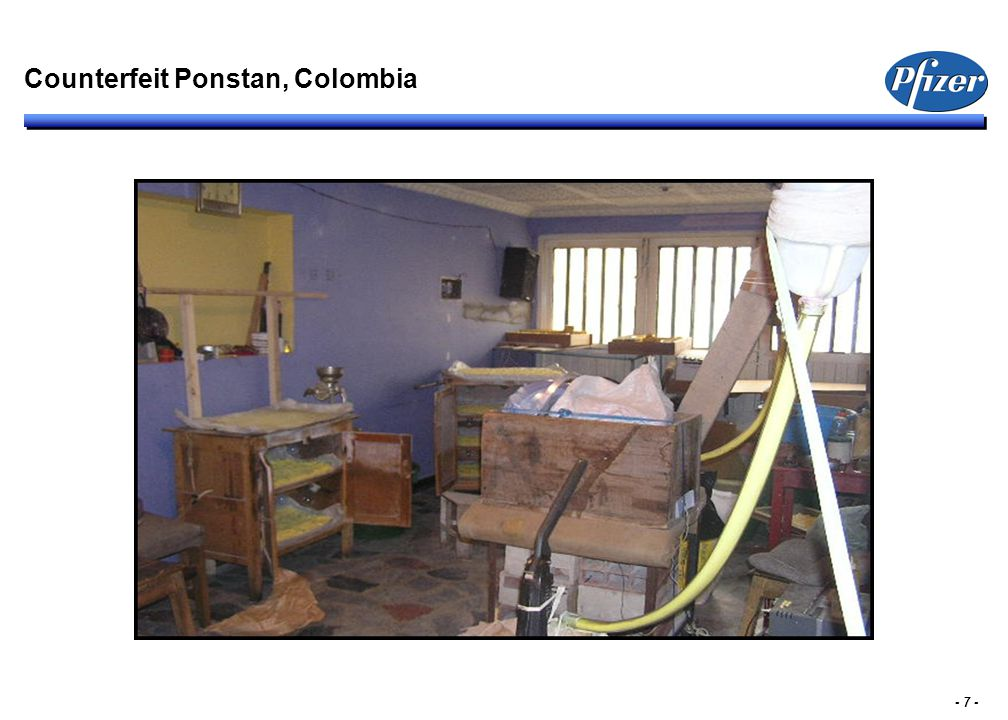 - 7 - Counterfeit Ponstan, Colombia