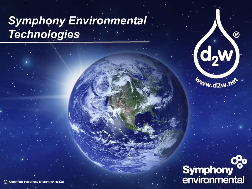 Symphony Environmental Technologies Copyright Symphony Environmental Ltd