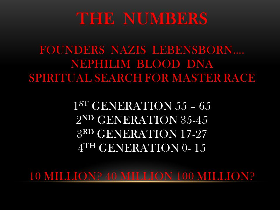 THE NUMBERS FOUNDERS NAZIS LEBENSBORN….