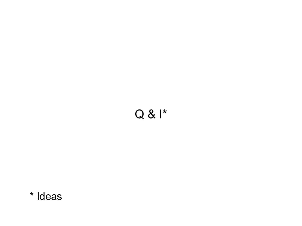 Q & I* * Ideas