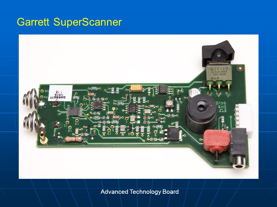 Garrett SuperScanner Advanced Technology Board