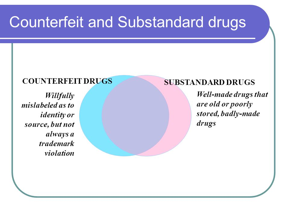 Manufacturing Facility for Counterfeit Panadol Source: Pharmaceutical Research Manufacturers Association This facility depicts the conditions in which many counterfeits are manufactured.
