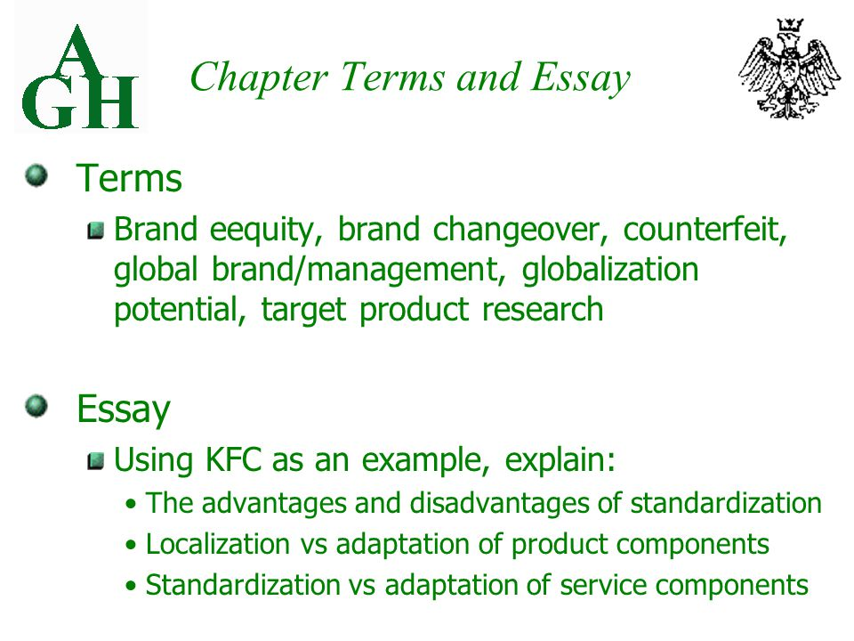 Chapter Twelve Global Products And Services Advantages And 8 Chapter Terms  And Essay Terms Brand Eequity. Brand Marketing Manager Cover Letter ...