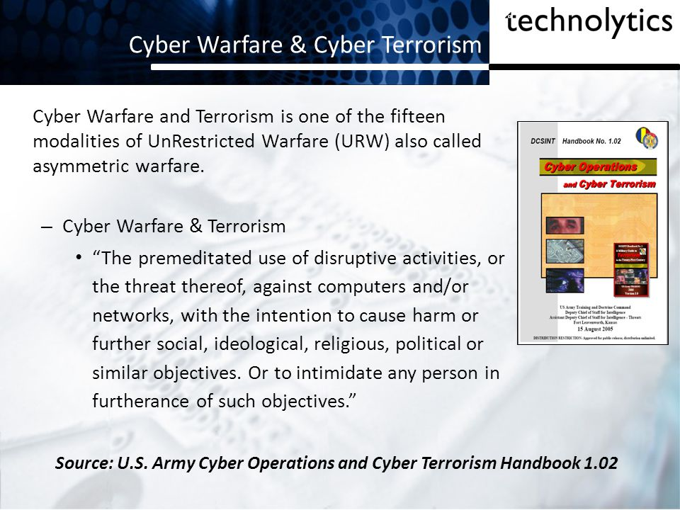 Cyber Weapons Proliferation The cost to develop this new class of weapon is within reach of any country, any extremist group, any criminal organization and tens-of-millions of individuals The raw materials needed to construct cyber weapons are not restricted and are widely available.