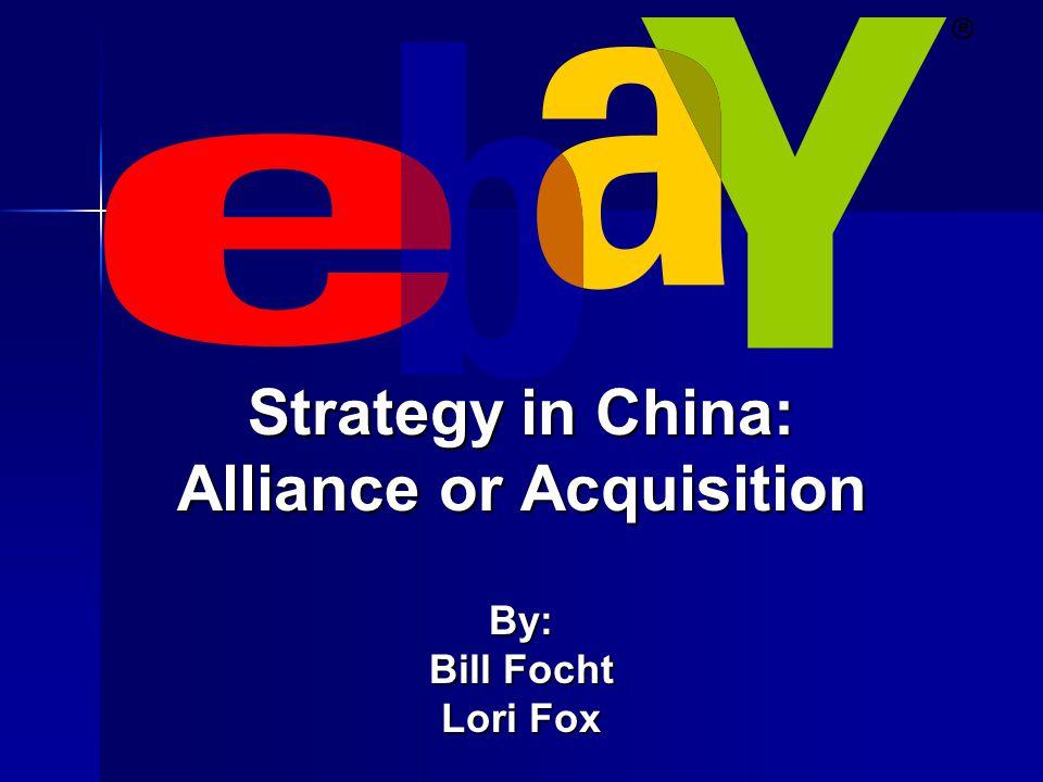History of eBay in China  1995 established C2C & B2C online/virtual marketplace in U.S.