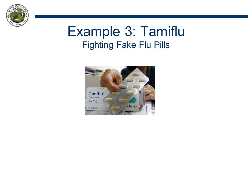 Example 3: Tamiflu Fighting Fake Flu Pills