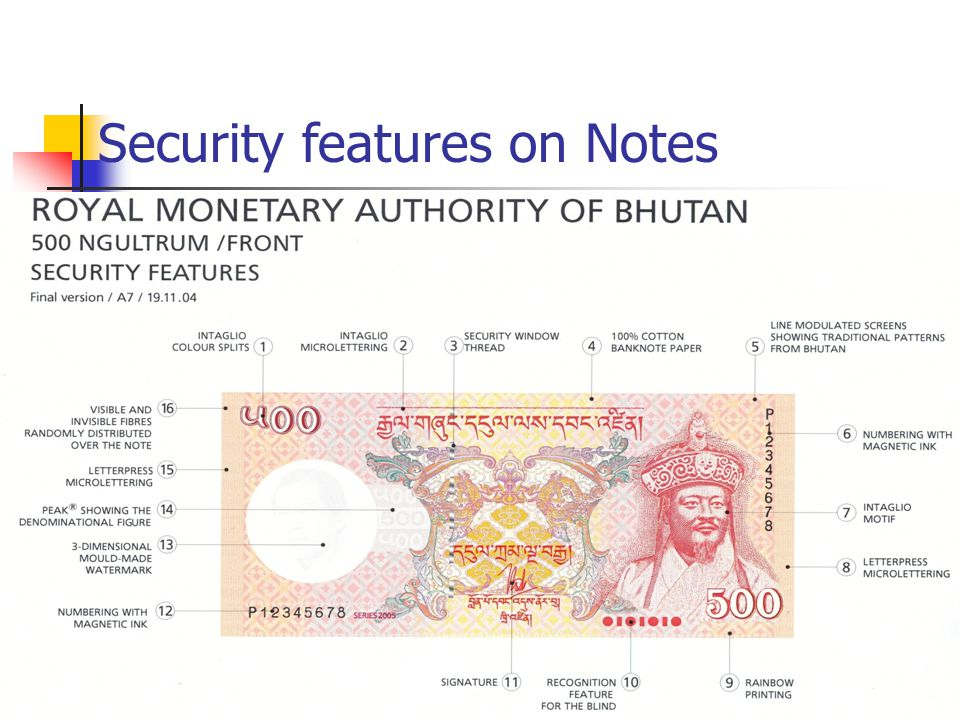 Security features on Notes