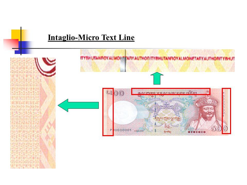 Intaglio-Micro Text Line