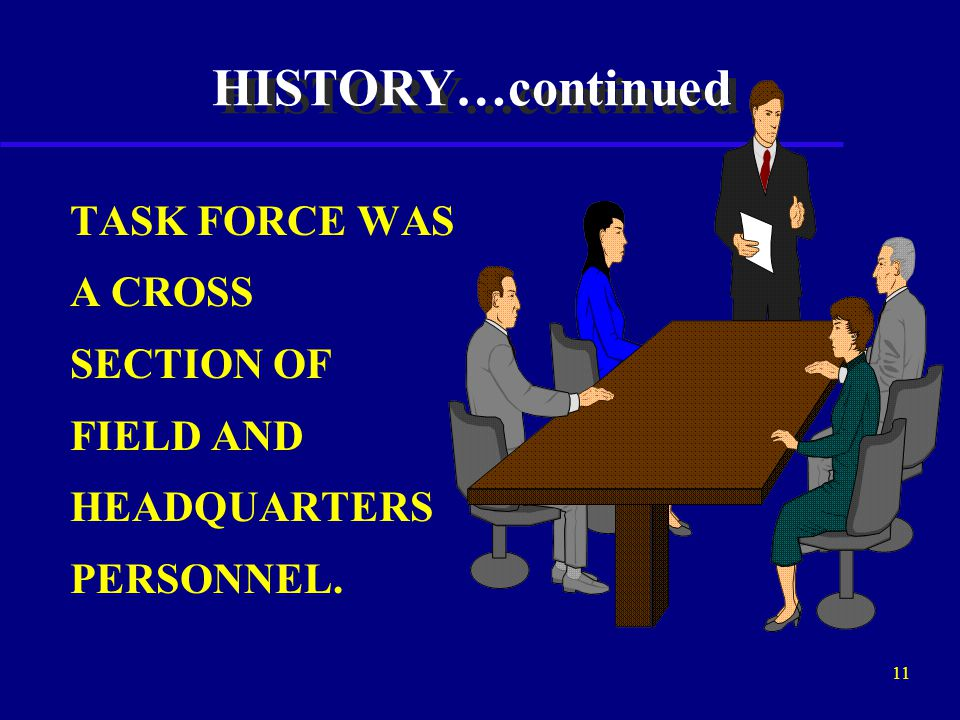 10 HISTORY…continued BUILD ON PAST INITIATIVES MAKE THE SUP PROGRAM MORE EFFECTIVE CONCERNS OF CONGRESS AND THE DOT/OIG
