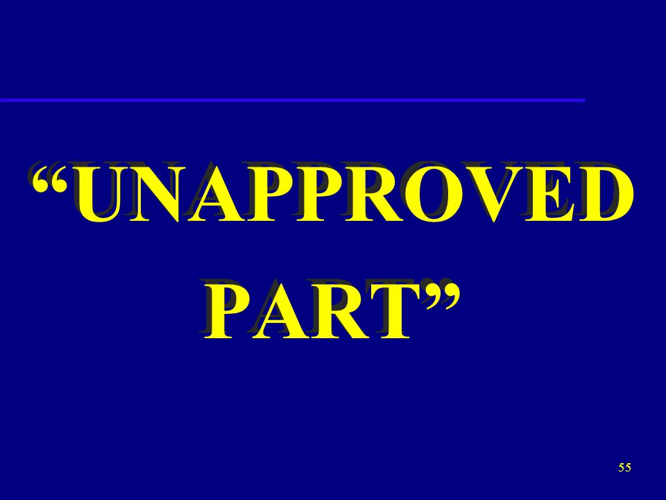 """54 """"APPROVED PART"""" """"APPROVED PART"""""""