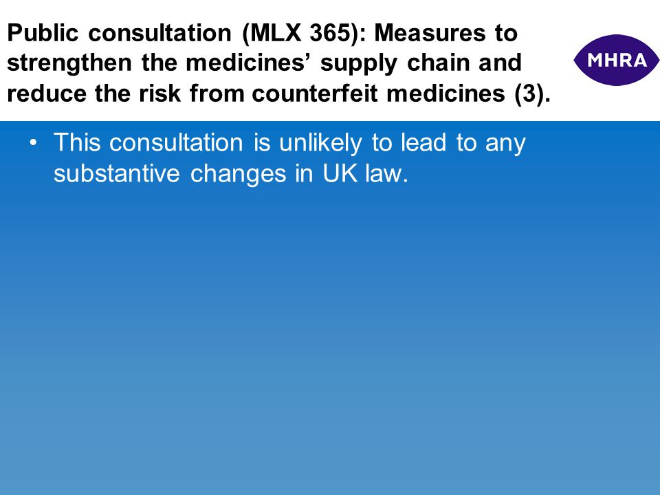 MLX 375 – Review & Consolidation of UK Medicines Legislation (1).