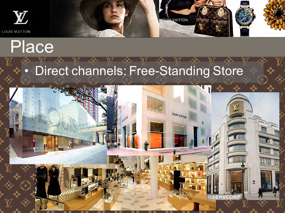 Place Direct channels: Free-Standing Store
