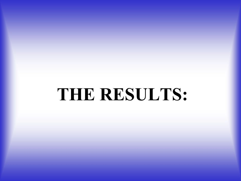 THE RESULTS: