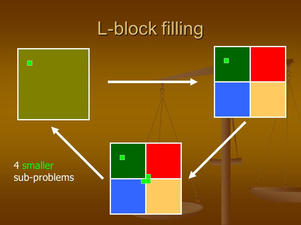 L-block filling What is the base case.