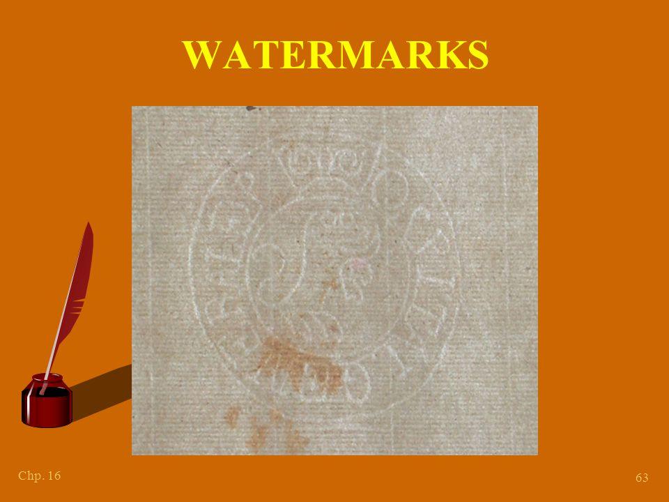 Chp. 16 63 WATERMARKS